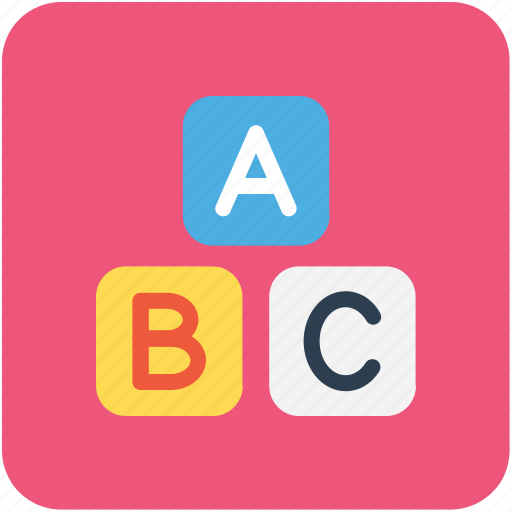abc block, alphabet blocks, basic english, early education, kindergarten icon