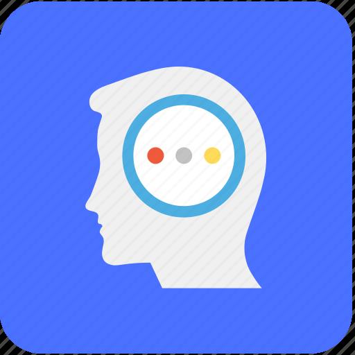 creative mind, human head, human mind, intelligent, thinking icon