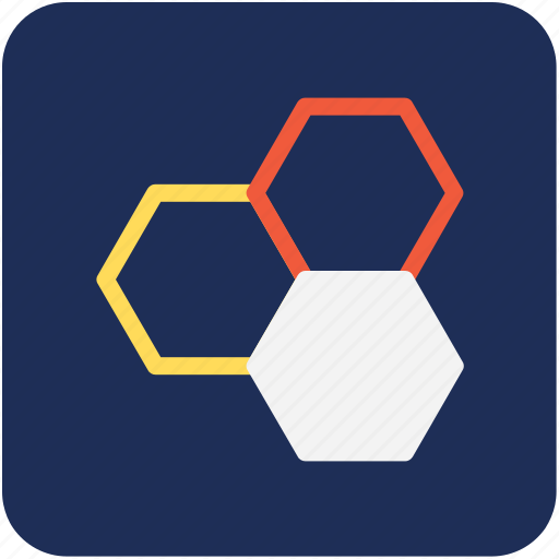atom bond, hexagon, molecular bond, molecular configuration, molecule icon