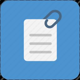 attached file, attachment, file attachment, pinned document icon