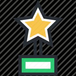award, prize, star trophy, trophy, winner icon