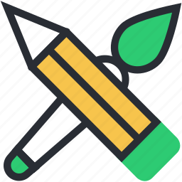 art, artist, crayon, paint brush, painting icon