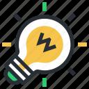 luminaire, light, energy, electrical bulb, electric light, bulb, light bulb icon