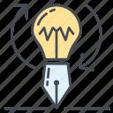 bulb, create, creative, idea, lamp, new, process icon icon