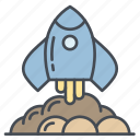discover, explore, find, rocket, search, space icon