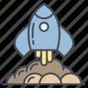 discover, explore, find, rocket, search, space icon icon