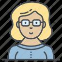 avatar, female, person, profile, student, user icon icon