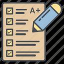 education, exam, grade, knowledge, tests icon icon