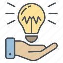bulb, creativity, idea, ideas, innovation, light icon icon