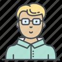 account, face, male, man, person, student, user icon icon