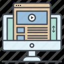browser, course, media, online, tutorial, tutorials, video icon icon