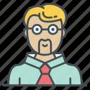 face, man, people, person, professor, profile, teacher icon icon