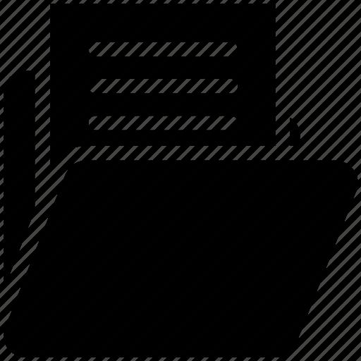 document, documents, file, files, folder, folder variant, open folder icon