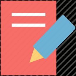 jotter, pencil, steno pad, write, writing, writing pad icon