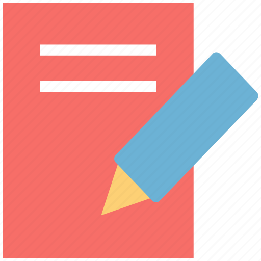 jotter, pencil, steno pad, write, writing, writing pad icon