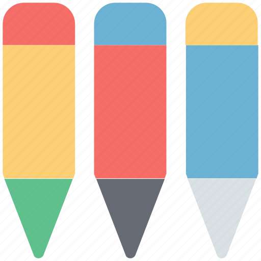 colors, crayons, pencil colors, pencils, stationery icon