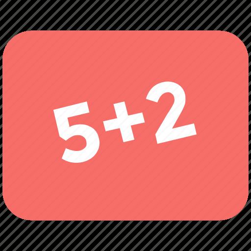 calculations, education, math class, math question, maths, study icon