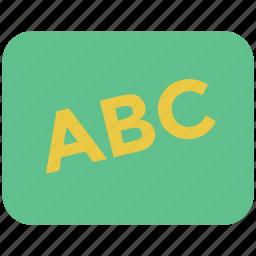 abc, alphabets, education, reading, study, whiteboard icon