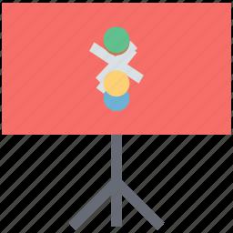 presentation board, projection screen, science chart, science presentation, whiteboard icon