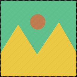 image, landscape, photo, picture, portrait, scenery icon