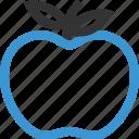apple, fruit, staff, substitute, teacher icon