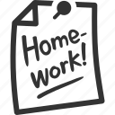 education, homework, school, study icon