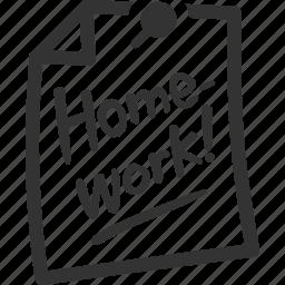 education, homework, school, study icon
