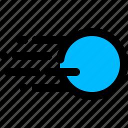 force, speed, velocity icon