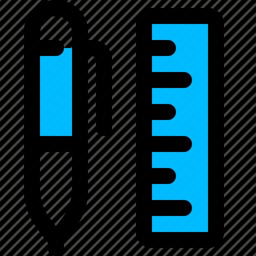 pen, ruler, scale icon