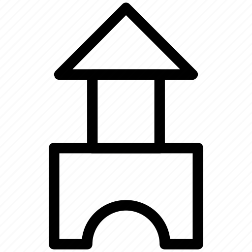 building, castle, hut, monument, real estate, shack icon