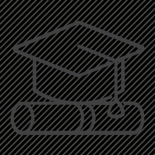 cap, degree, diploma, education, graduate, graduation, university icon