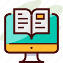 book, e learning, online icon