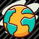 earth, global, world