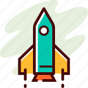 education, launch, rocket icon