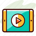 e learning, tutorial, video icon