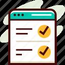 education, exam, online, test icon