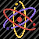 atom, biology, nucleus, proton, science icon