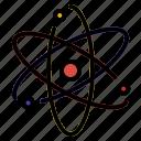 atom, nucleus, proton, science icon