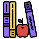 apple, book, education, library icon