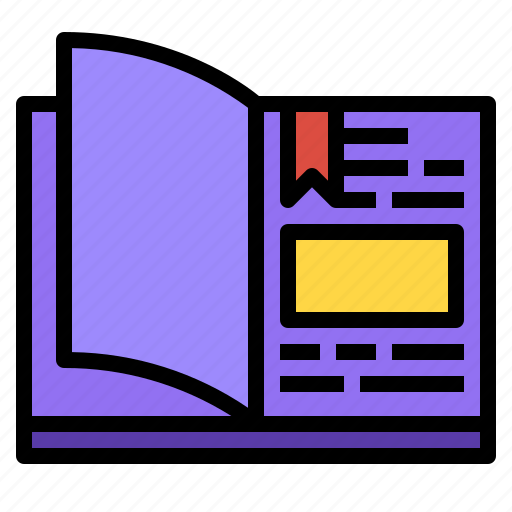 book, education, literature, textbook icon