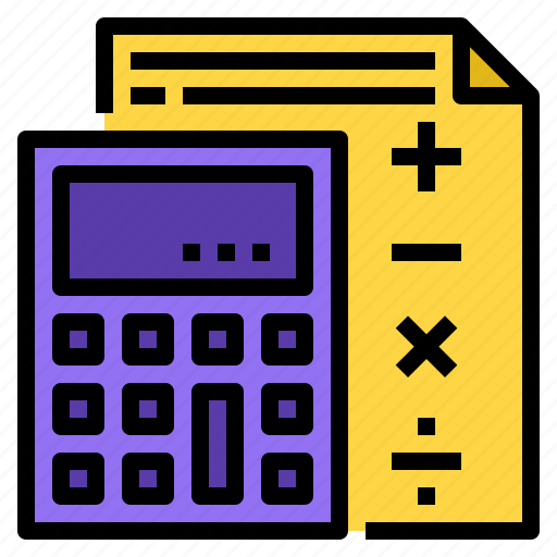 accounting, calculator icon