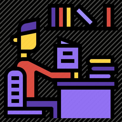 book, library, literature icon