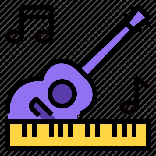 guitar, melody, music, piano icon