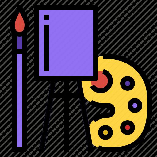 art, brush, drawing, paint icon