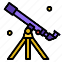 astronomy, galaxy, star, telescope icon