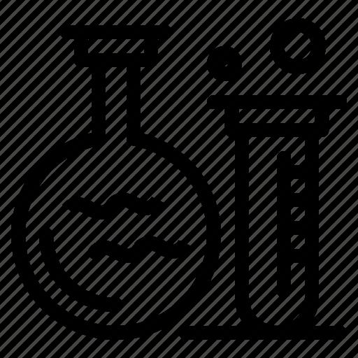 education, flask, lab, tube icon