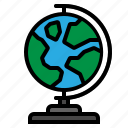 earth, education, geography, globe, nature icon