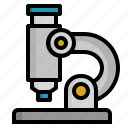 lab, laboratory, microscope, research, zoom icon