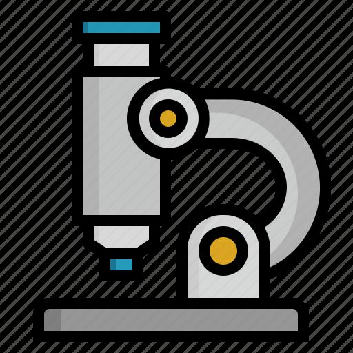 lab, laboratory, microscope, research, zoom icon