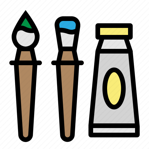 brush, draw, paint, painting, tool icon
